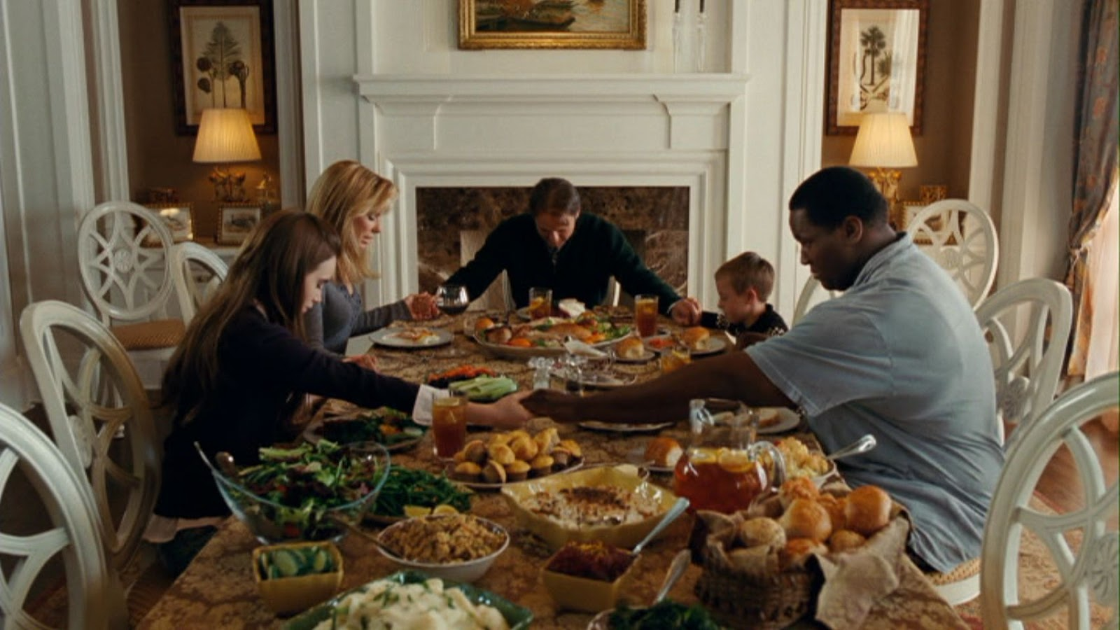 on the blind side and white paternalism the progressive democrat the tuohy family prays over mounds of food